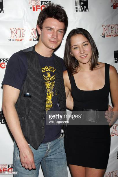 Actor Nathaniel David Becker and Actress Zelda Williams attend the 20th Annual Newfest Were The World Mine Premiere on June 15 2008 at AMC Loews 34th...