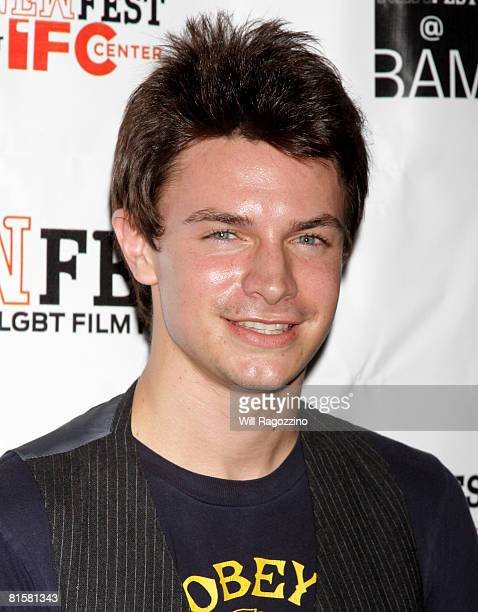 Actor Nathaniel David Becker attends the 20th Annual Newfest Were The World Mine Premiere on June 15 2008 at AMC Loews 34th Street Theater in New...