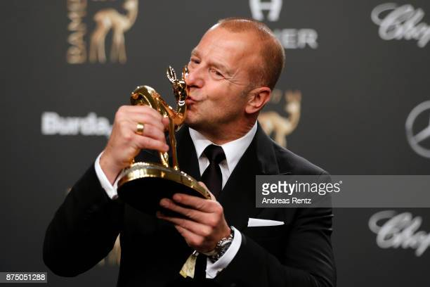 'Actor National' award winner Heino Ferch at the Bambi Awards 2017 winners board at Stage Theater on November 16 2017 in Berlin Germany