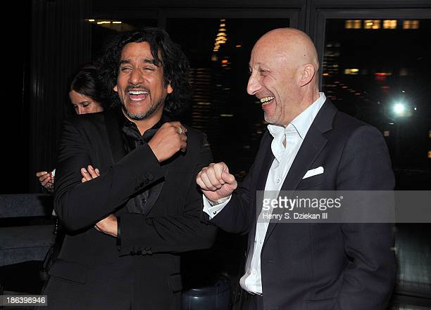 Actor Naveen Andrews and director Oliver Hirschbiegel attend The Cinema Society with Linda Wells Allure Magazine premiere of Entertainment One's...