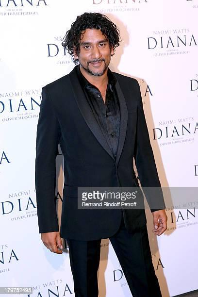Actor Naveen Andrews attends 'Diana' Paris movie premiere at Cinema UGC Normandie on September 6 2013 in Paris France