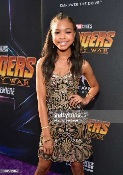 Actor Navia Robinson attends the Los Angeles Global Premiere for Marvel Studios' Avengers Infinity War on April 23 2018 in Hollywood California