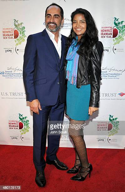 Actor Navid Negahban and daughter Nassiem Negahban attend the 6th Annual Farhang Foundation's Short Film Festival award ceremony and reception at...
