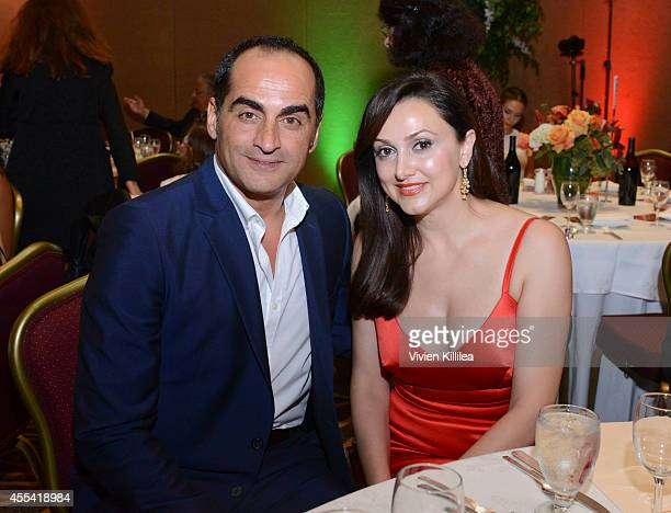 Actor Navid Negahban and founder and executive director of the Pars Equality Center Bita Daryabari attend the Pars Equality Center's 1st Annual Los...