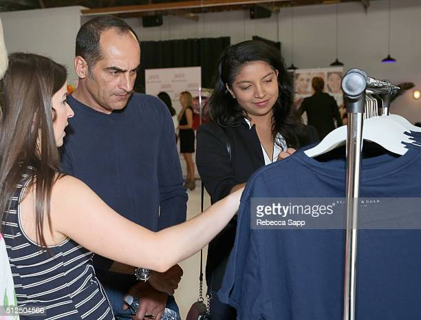 Actor Navid Negahban and Nassiem Negahban attend Kari Feinstein's Style Lounge presented by LIFX on February 26 2016 in Los Angeles California
