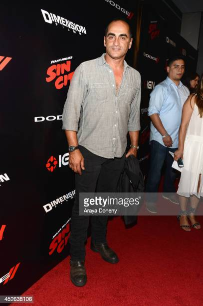 Actor Navid Negahban attends IGN Sin City A Dame to Kill For ComicCon International Party during ComicCon International 2014 at Hard Rock Hotel San...