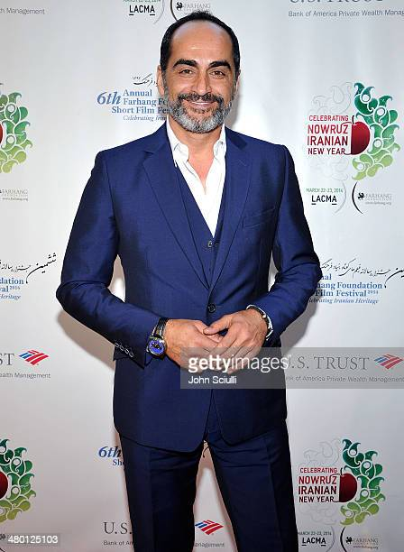 Actor Navid Negahban attends the 6th Annual Farhang Foundation's Short Film Festival award ceremony and reception at LACMA on March 22 2014 in Los...