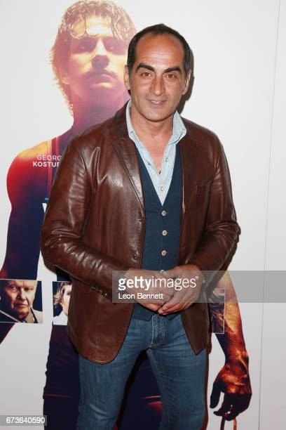 Actor Navid Negahban attends the Premiere Of Warner Bros Home Entertainment's American Wrestler The Wizard at Regal LA Live Stadium 14 on April 26...