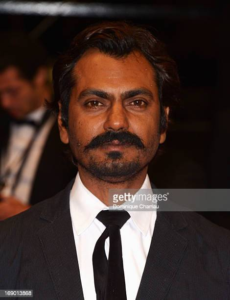 Actor Nawazuddin Siddiqui attends the Premiere for 'Monsoon Shootout' during The 66th Annual Cannes Film Festival at Palais des Festivals on May 18...