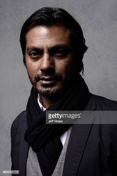 Actor Nawazuddin Siddiqui poses for a portrait during the 2014 Sundance Film Festival at the WireImage Portrait Studio at the Village At The Lift...