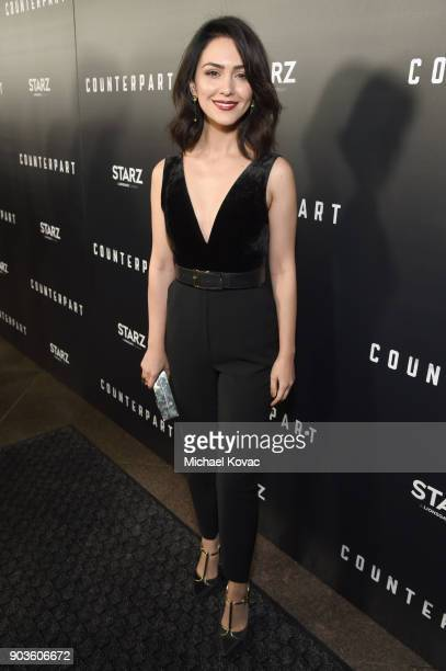 Actor Nazanin Boniadi attends the premiere of STARZ's 'Counterpart' at Director's Guild of America on January 10 2018 in Los Angeles California