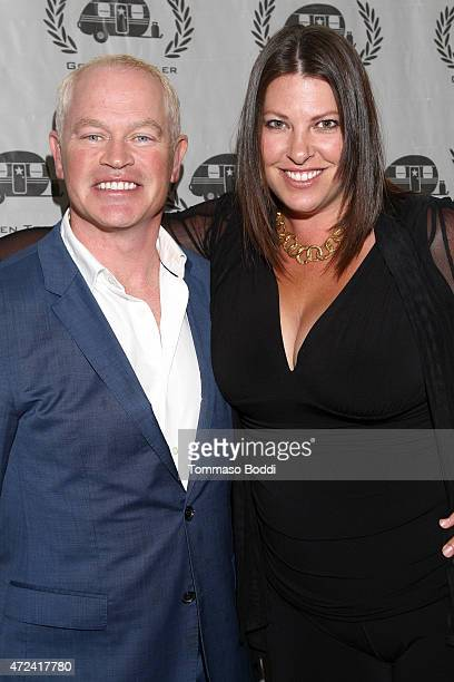 Actor Neal McDonough and Ruve McDonough attend the 16th annual Golden Trailer Awards held at Saban Theatre on May 6 2015 in Beverly Hills California