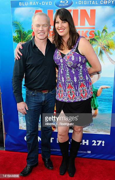 Actor Neal McDonough and Ruve McDonough attend Twentieth Century Fox Home Entertainment's Alvin and the Chipmunks Chipwrecked Bluray and DVD release...