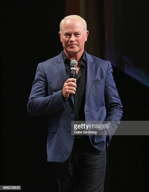 Actor Neal McDonough speaks at the 15th annual official Star Trek convention at the Rio Hotel Casino on August 5 2016 in Las Vegas Nevada