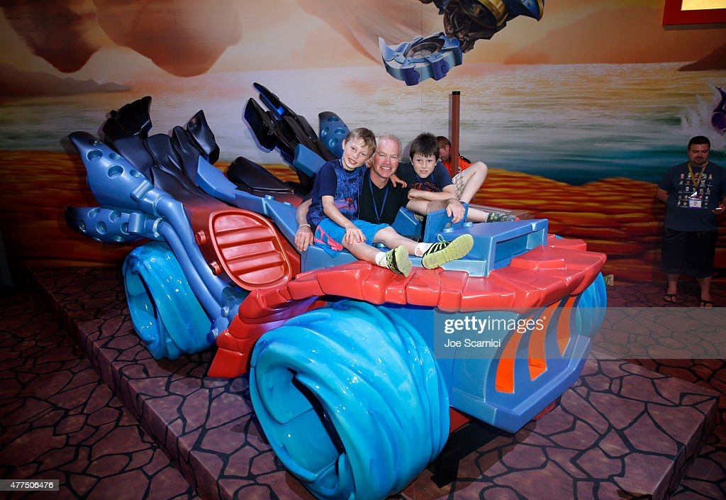 Josh Duhamel And Other Celebrities Visit Activision's Skylanders SuperChargers Booth At E3 2015 In Los Angeles : News Photo