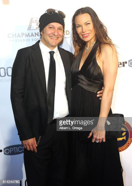 Actor Neil D'Monte and actress Jon Mack arrive for Society of Camera Operators Lifetime Achievement Awards held at Loews Hollywood Hotel on February...