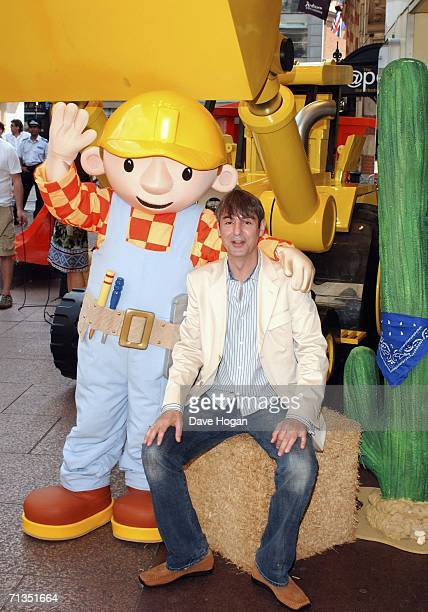 Actor Neil Morrissey arrives at the UK Premiere of Bob The Builder Built To Be Wild at the Odeon West End on July 2 2006 in London England