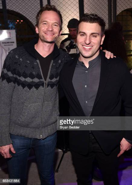 Actor Neil Patrick Harris and Airbnb CEO Brian Chesky attend Experience Harlem hosted by Airbnb and Ghetto Gastro on March 14 2017 in New York City