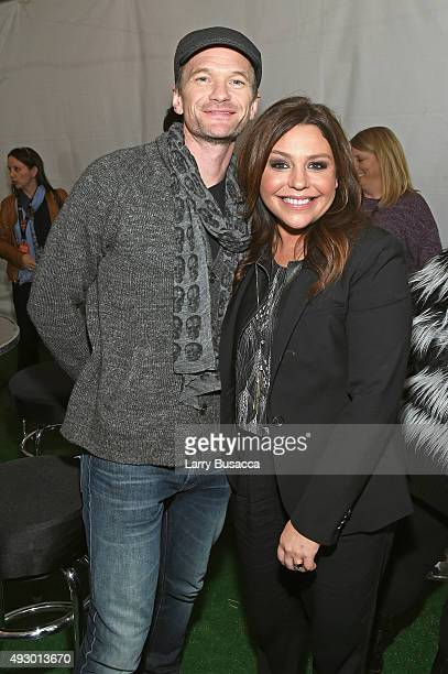 Actor Neil Patrick Harris and Celebrity Chef Rachael Ray attend the Blue Moon Burger Bash presented by Pat LaFrieda Meats hosted by Rachael Ray Food...