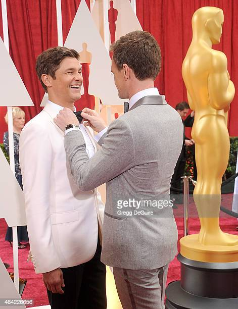 Actor Neil Patrick Harris and David Burtka arrive at the 87th Annual Academy Awards at Hollywood & Highland Center on February 22, 2015 in Hollywood,...