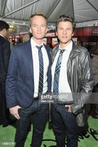 Actor Neil Patrick Harris and David Burtka arrive at the premiere of Walt Disney Pictures' The Muppets held at the El Capitan Theatre on November 12...