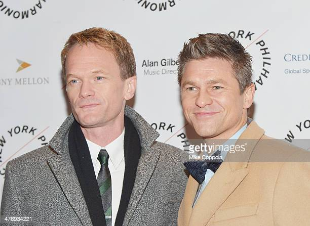 Actor Neil Patrick Harris and David Burtka attend the 2014 The New York Philharmonic Spring Gala featuring Sweeney Todd The Demon Barber of Fleet...