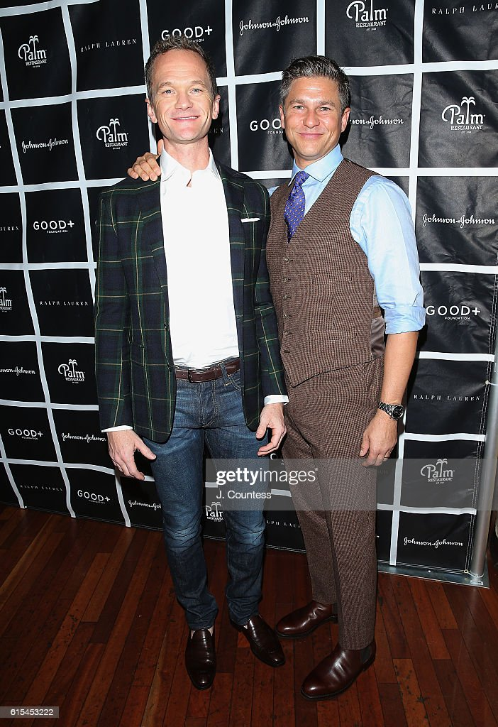 Actor Neil Patrick Harris and David Burtka attend the 2016 Foundation Good+ New York Fatherhood Luncheon at The Palm Tribeca on October 18, 2016 in New York City.