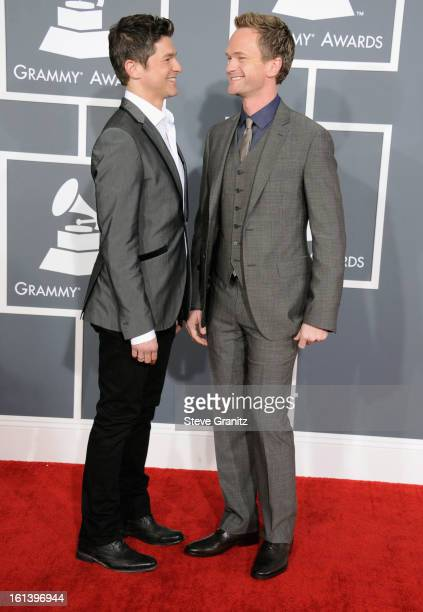 Actor Neil Patrick Harris and David Burtka attend the 55th Annual GRAMMY Awards at STAPLES Center on February 10 2013 in Los Angeles California