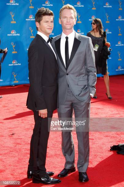 Actor Neil Patrick Harris and David Burtka attend the 62nd Annual Primetime Emmy Awards at Nokia Theatre Live LA on August 29 2010 in Los Angeles...