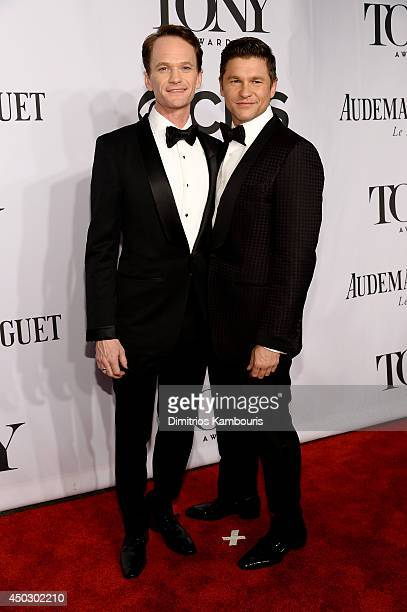 Actor Neil Patrick Harris and David Burtka attend the 68th Annual Tony Awards at Radio City Music Hall on June 8 2014 in New York City