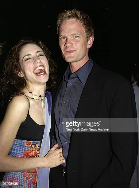 Actor Neil Patrick Harris and girlfriend Carla at opening night party for the Broadway play \Jesus Christ Superstar\ at the Manhattan Center.
