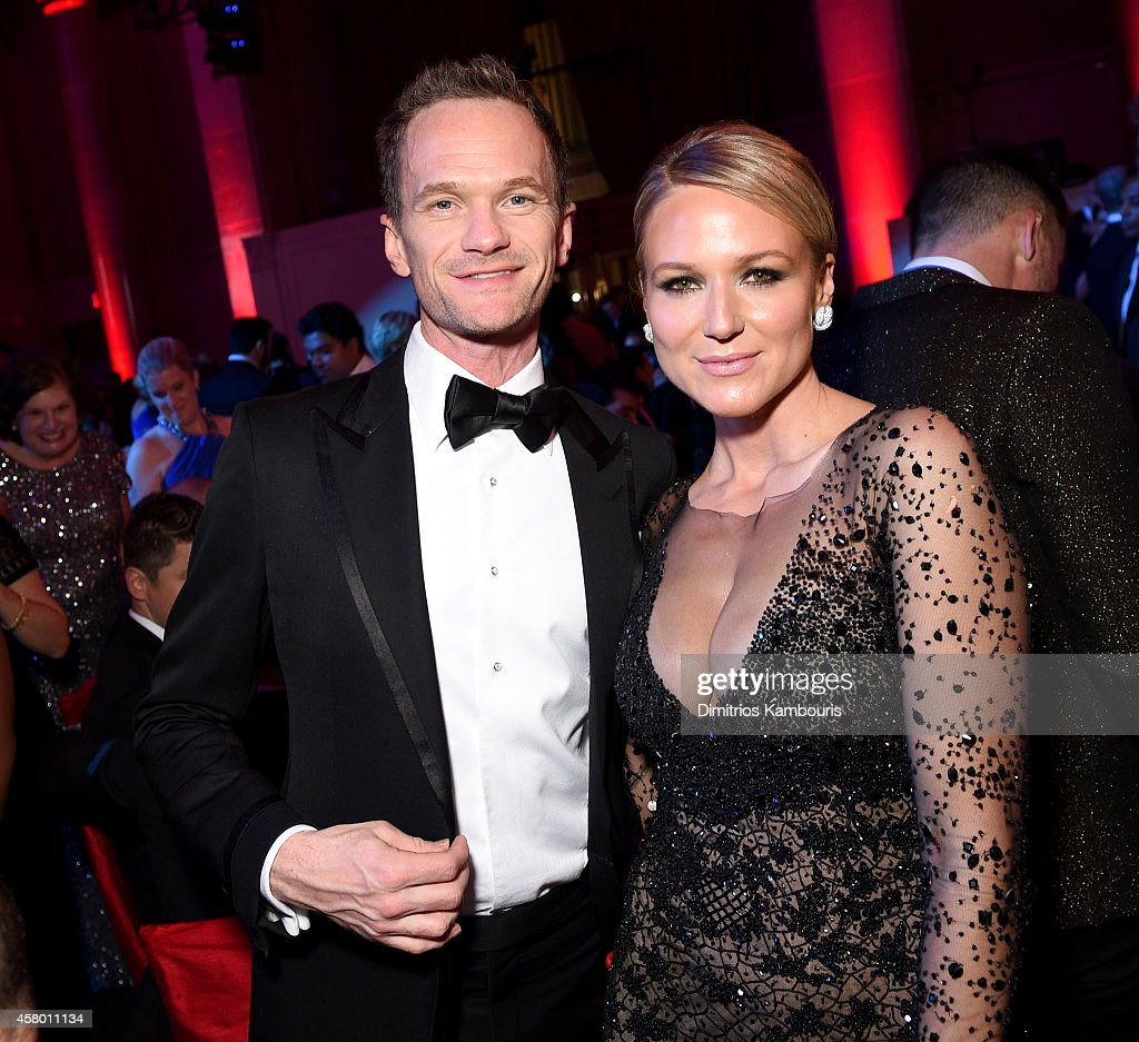 Actor Neil Patrick Harris (L) and musician Jewel attends the Elton John AIDS Foundation's 13th Annual An Enduring Vision Benefit at Cipriani Wall Street on October 28, 2014 in New York City.