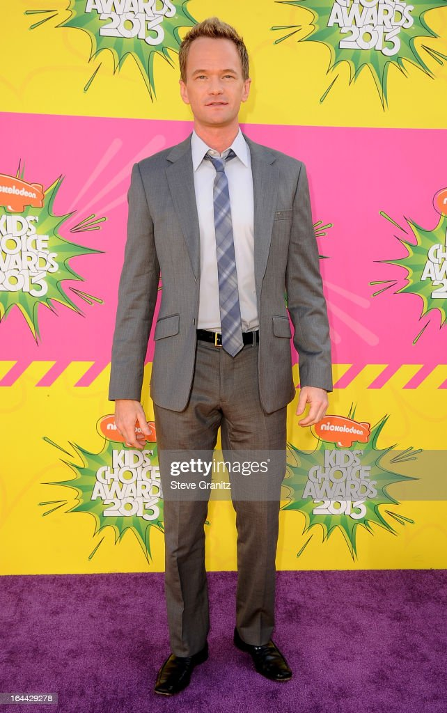 Actor Neil Patrick Harris arrives at Nickelodeon's 26th Annual Kids' Choice Awards at USC Galen Center on March 23, 2013 in Los Angeles, California.