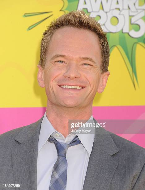 Actor Neil Patrick Harris arrives at Nickelodeon's 26th Annual Kids' Choice Awards at USC Galen Center on March 23 2013 in Los Angeles California