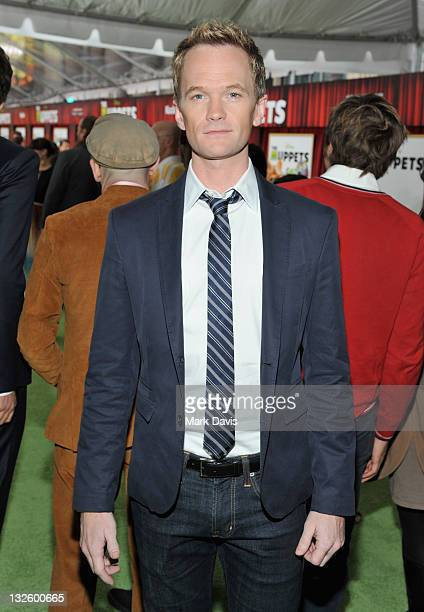 Actor Neil Patrick Harris arrives at the premiere of Walt Disney Pictures' The Muppets held at the El Capitan Theatre on November 12 2011 in...