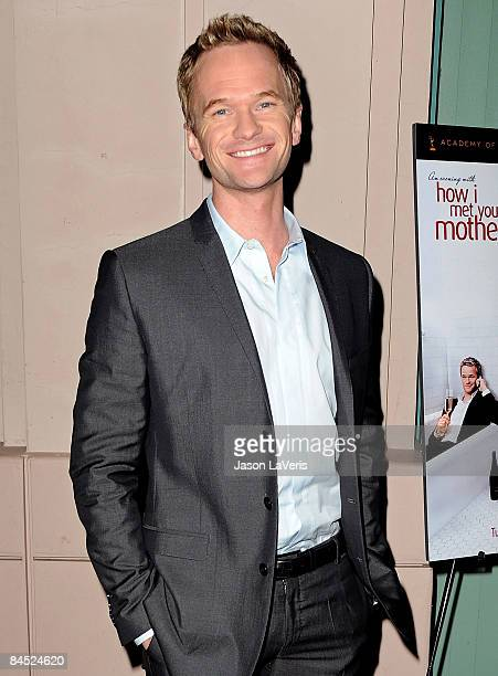 Actor Neil Patrick Harris attends 'An Evening with How I Met Your Mother' at the Leonard H Goldenson Theatre on January 27 2009 in North Hollywood...