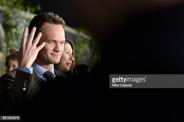 Actor Neil Patrick Harris attends the Lemony Snicket's A Series Of Unfortunate Events Screening at AMC Lincoln Square Theater on January 11 2017 in...