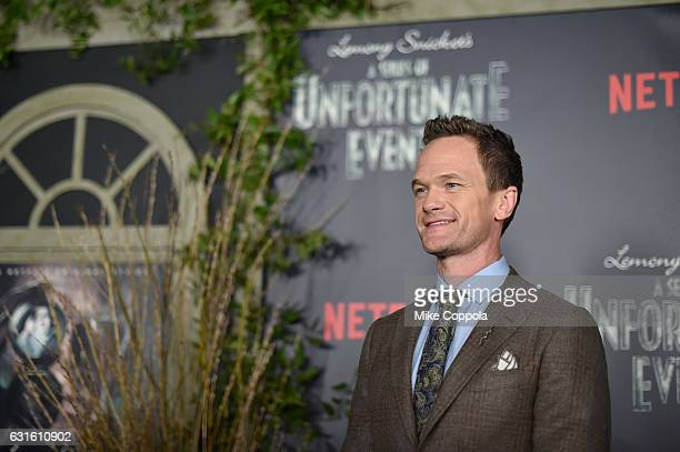 Actor Neil Patrick Harris attends the 'Lemony Snicket's A Series Of Unfortunate Events' Screening at AMC Lincoln Square Theater on January 11 2017 in...