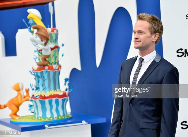 Actor Neil Patrick Harris attends the premiere of Columbia Pictures' 'Smurfs 2' at Regency Village Theatre on July 28 2013 in Westwood California