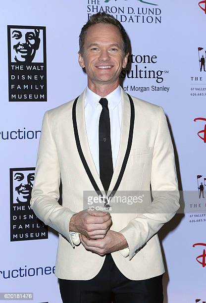 Actor Neil Patrick Harris attends The Walt Disney Family Museum Gala at Disneyland on November 1 2016 in Anaheim California