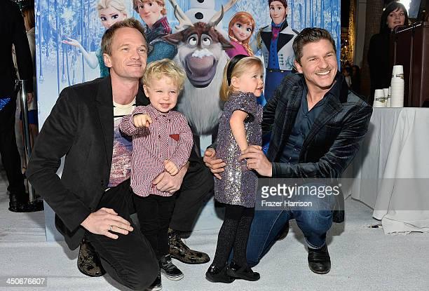 Actor Neil Patrick Harris Harper BurtkaHarris Gideon BurtkaHarris and David Burtka attend the premiere of Walt Disney Animation Studios' Frozenat the...