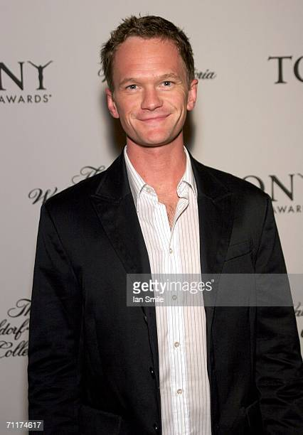 Actor Neil Patrick Harris poses at The Tony Awards Honor Presenters And Nominees at the Waldorf Astoria on June 10 2006 in New York