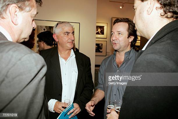 Actor Neil Pearson talks to guests at the 'Director's Cut' Exhibition at the Getty Gallery on October 17 2006 in London