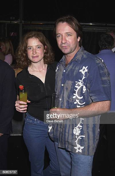Actor Neil Pearson with friend at the Orange Prize for Fiction Award Ceremony held at Pimlico Gardens on 5th June 2001 in London