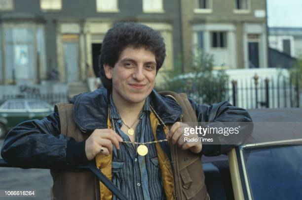 Actor Nejdet Salih pictured on the exterior set of the BBC soap opera 'EastEnders' April 5th 1991