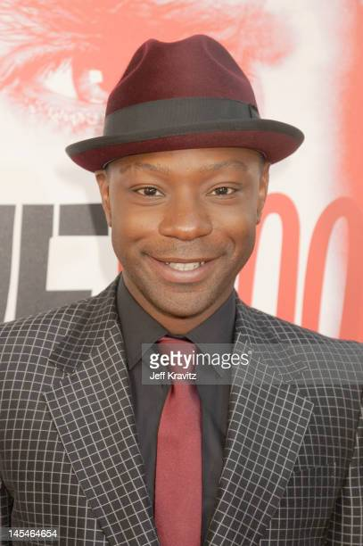 Actor Nelsan Ellis arrives at HBO 'True Blood' season 5 premiere held at ArcLight Cinemas Cinerama Dome on May 30 2012 in Hollywood California