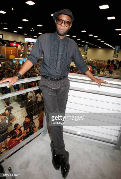 Actor Nelsan Ellis attends HBO's 'True Blood' cast autograph signing during ComicCon 2014 on July 26 2014 in San Diego California