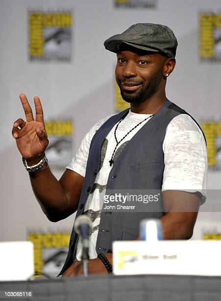 Actor Nelsan Ellis attends HBO's 'True Blood' Panel during ComicCon 2010 at San Diego Convention Center on July 23 2010 in San Diego California