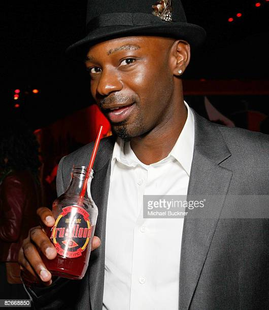 Actor Nelsan Ellis attends the after party for the Los Angeles premiere of HBO's series 'True Blood' at the Cinerama Dome on September 4 2008 in...