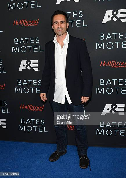 Actor Nestor Carbonell attends AE's Bates Motel party during ComicCon International 2013 at Gang Kitchen on July 20 2013 in San Diego California